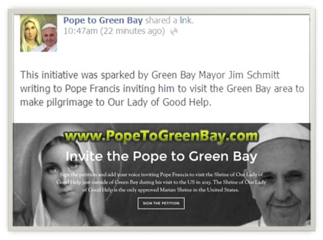 Mary 4 pope invite letter