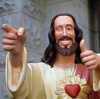 Jesus thumbs up