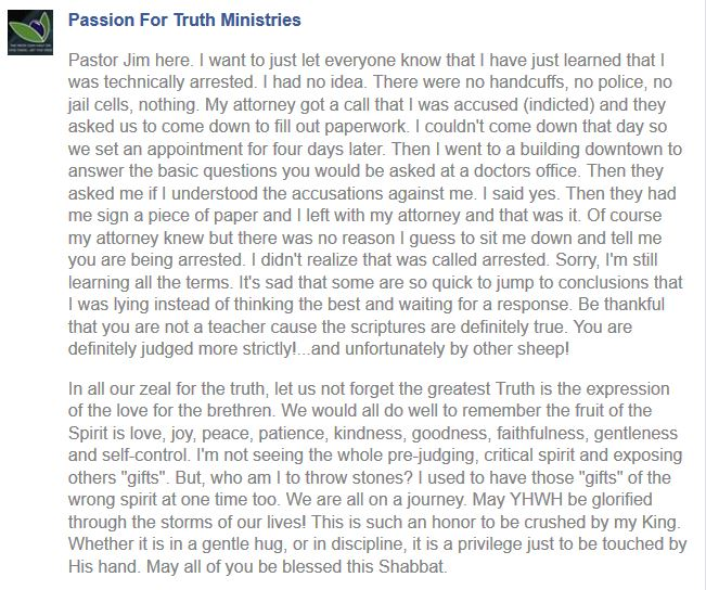 passion for truth Jim Staley