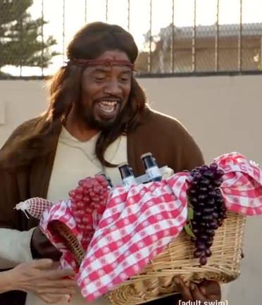 """Screen shot from the new series, """"Black Jesus."""""""
