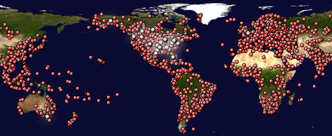 This map shows Stand Up For The Truth's global outreach