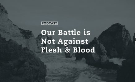 Our Battle is Not Against Flesh and Blood