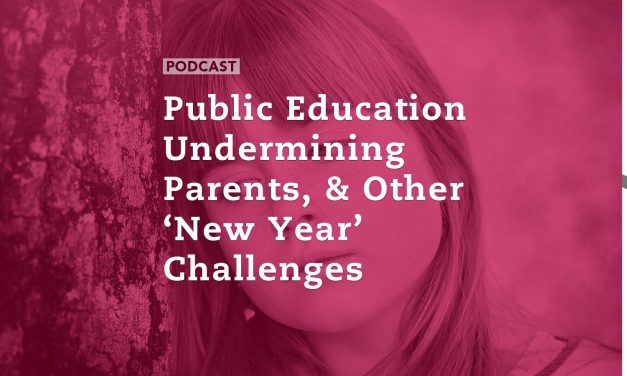 Public Education Undermining Parents, and Other 'New Year' Challenges