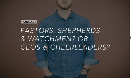 Pastors: Shepherds and Watchmen?  Or CEOs and Cheerleaders?